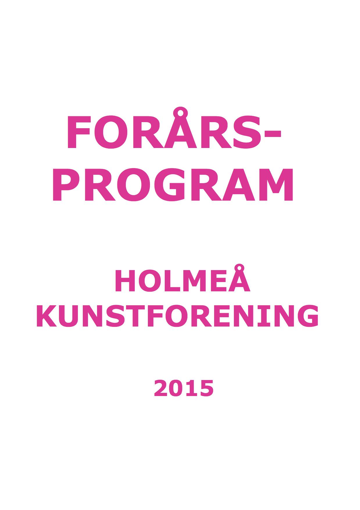 Forårsprogram 2015